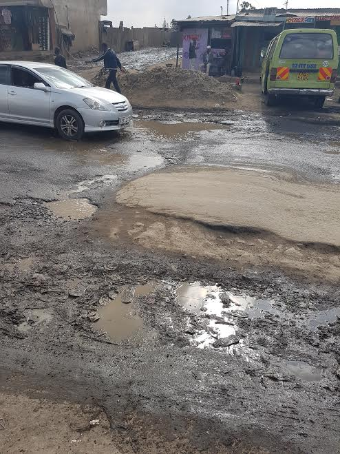 Pothole at a Bump in Kayole